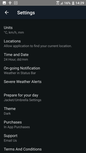 aplicatii meteo android